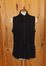 DASH black winter sleeveless bodywarmer gilet jacket cardigan top  zip 12 40
