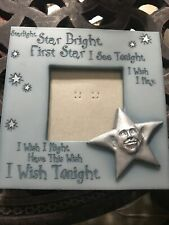 Picture Frame Blues And Silver Star Country Chic Measures 6.5 X 6.5 Cute