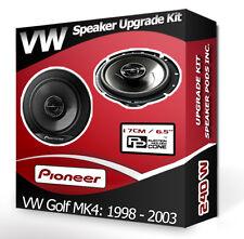 VW Golf MK4 Front Door Speakers Pioneer car speakers + adapter pods 240W