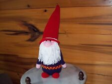 Crochet Gnome doll toy animal christmas decor  blue made to order