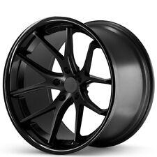 "4ea 19x9.5"" Ferrada Wheels FR2 Matte Black with Gloss Black Lip Rims(S4)"