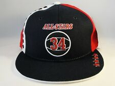 Los Angeles All Stars Street Ball Headgear Fitted Hat Cap Size 7 Navy Red
