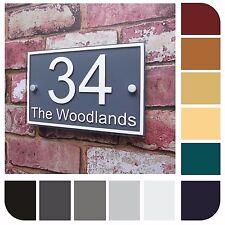 House Sign Door Number Name Plaque Street Address Plaque Modern Glass Effect