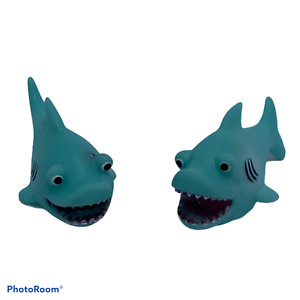 Shark water squirter, bath toy, novelty rubber duck