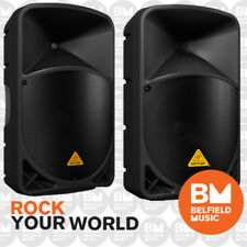 2 x Behringer EUROLIVE B112MP3 Active PA Speaker 2-Way 12'' Inch w/ MP3 Player