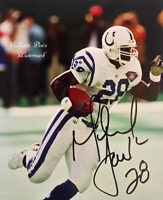 HOF NFL Marshall Faulk Indianapolis Colts Autographed  8x10 Photo  (FB-155)