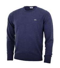 LACOSTE WOOL JUMPER - SMALL T3 - BLUE OCEANE - AH2995 - BNWT