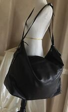 LARGE GENUINE YSL BLACK LEATHER TRAVEL BAG. A COLLECTORS MUST HAVE!