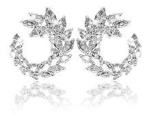 Swarovski Crystal Louison Hoop Pierced Earrings White Rhodium Plating 5419245