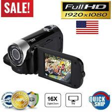 Digital 1080P HD Video Camera TFT LCD DV AV LED Vision 270° Screen Rotation US