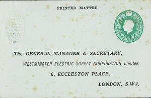 GREAT BRITAIN - KGv 1/2d POSTAL STATIONERY POSTCARD - UNUSED - W 196
