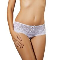 EWANA N27 Luxury Super Soft Decorative Lace Brief - Available in Black or White