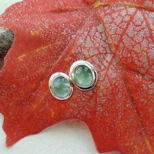 Apatit, grün, elegant, edel modern, Ohrringe Ohrstecker, 925 Sterling Silber neu