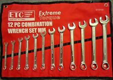 Six Point Metric Combination Wrench Set 8 to 19mm MM 6 pt Canvas Roll up Pouch