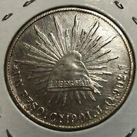 1901 CnJQ  MEXICO SILVER UN PESO HIGH GRADE CROWN COIN