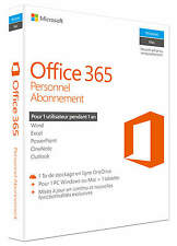 Microsoft Office 365 personnel 1 An ESD (français) (5x Pc/mac)