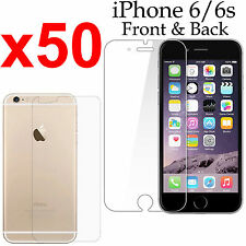 x50 Anti-scratch 4H PET film screen protector Apple iphone 6 6s front + back