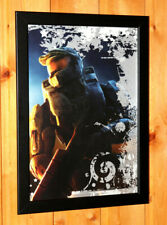Halo 2 3 4 Master Chief Rare Small Poster Advertising / Ad Page Framed Xbox 360