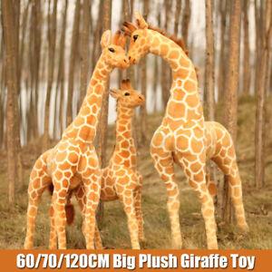 60/70/100CM Plush Giraffe Toy Giant Large Stuffed Cute Animal Doll Kid Xmas Gift
