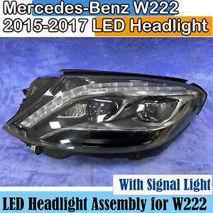 2015 2016 2017 Mercedes-Benz W222 LED Headlight Assembly S400 Headlamp OEM Left