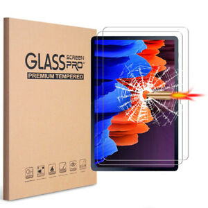 [2 Pack] Tempered Glass Screen Protector for Samsung Galaxy Tab A7 S5e A E S6 S7