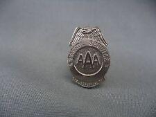 Small Vintage AAA Patrol Service Pin Silvertone Eagle Wings Badge Shaped