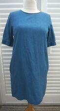 COS Denim Oversize Tunic Top Shirt Dress with Pockets - Size EUR 36 UK 10