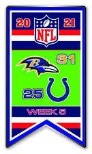 2021 Semaine 5 Bannière Broche NFL Baltimore Ravens Vs.Indianapolis Colts Super