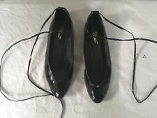 Nine West Patent Leather Ballet Pumps Flat Espadrilles  Flats Black 4