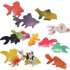 12Pcs Plastic Mini Gold Fish Animal Figures Kid Toy Party Gift Aquarium Decor UK