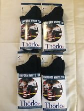 #637 Thorlos Uniform White Toe Socks, Unisex, Size Medium