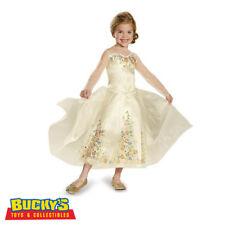 Disney Cinderella Wedding Dress Child Deluxe Halloween Costume Dress Up Princess