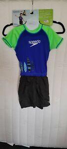 New Speedo Kids UV 50+ Floatation Suit W/ Shorts Boy's M/L Age 2-4 33-45 Lbs