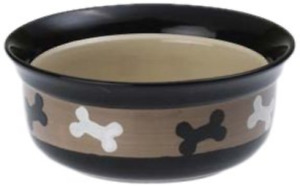"Petrageous Designs, City Pets 6"" Pet Bowl, Bones 10071"