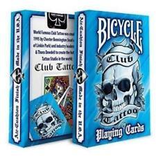 Club Tattoo Blue Playing Cards Premium Artwork Poker Magic