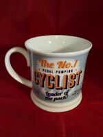 Cyclist Gift Coffee Cup Leader of the Pack Pedal Pumping Cyclist, Diner Style