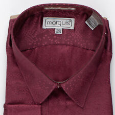 Red with Shiny Snakeskin Pattern New Old Stock Dress Shirts by Marquis