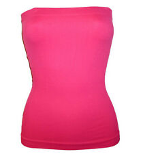 FUCHSIA TUBE TOP LONG STRETCH STRAPLESS SEAMLESS S M L