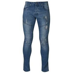 883 Police Mens Moriarty Jeans Slim Pants Trousers Bottoms Distressed