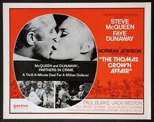 THOMAS CROWN AFFAIR STEVE MCQUEEN FAYE DUNAWAY R-1975 ROLLED HALF-SHEET