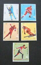 Equatorial Guinea-1980-Lake Placid Winter Olympics-Full set of 5-MNH