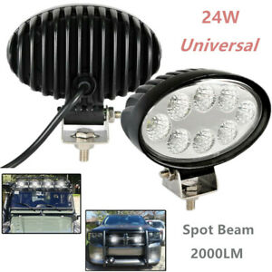 24W Modified Off-road Vehicle Light Engineering Lamp Lighting Oval LED Spot Beam
