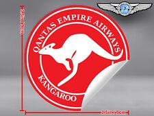 QANTAS EMPIRE AIRWAYS KANGAROO SERVICE ROUND LOGO DECAL / STICKER