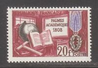 France 1959 MNH Mi 1229 Sc 905 Palm Leaf Medal of the French Academy **