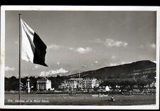 GENEVE (SUISSE) BARQUES animées aux HOTELS & MONT BLANC en 1933