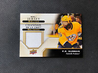 2019-20 UPPER DECK TIM HORTONS P.K. SUBBAN RARE NHL JERSEY RELIC #J-PS
