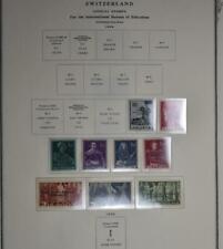 1944 Swiss - International Bureau of Education Singles Set - MNH