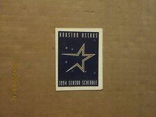 MLB Houston Astros Vintage 1994 Team Logo Baseball Pocket Schedule