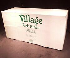 "Dept 56- Heritage Village- Jack Pines- #52622- Set of 3 (9"",12"",15"" ;) New In Box"