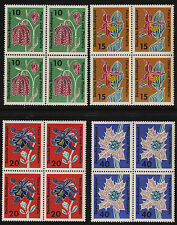 1963 Germany Set Sc#857-60 Mi#392-5 Blocks of 4 MNH VF